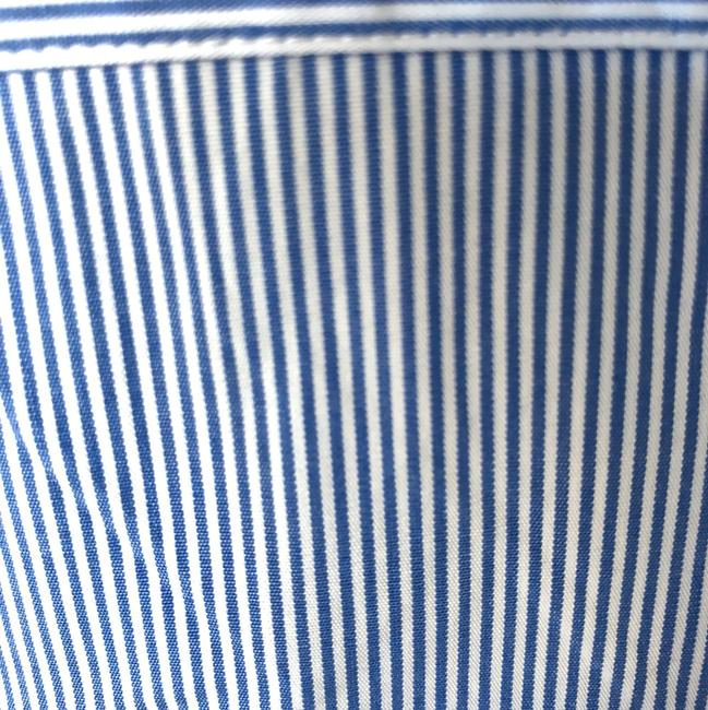 J.McLaughlin Top blue/white pinstriped