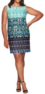 Taylor short dress Turquoise Multi on Tradesy