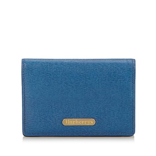Preload https://item3.tradesy.com/images/burberry-blue-leather-card-holder-23338887-0-0.jpg?width=440&height=440