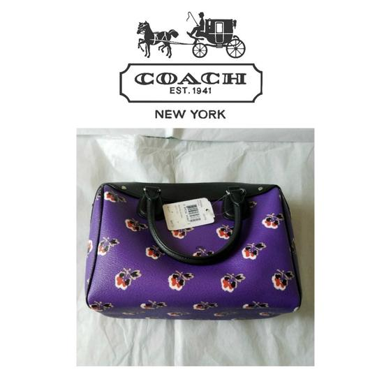 Coach Bennett F55464 Satchel in Bramble Rose Floral Print