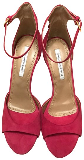 Preload https://img-static.tradesy.com/item/23338935/diane-von-furstenberg-pink-dvf-suede-sandals-pumps-size-us-10-regular-m-b-0-1-540-540.jpg