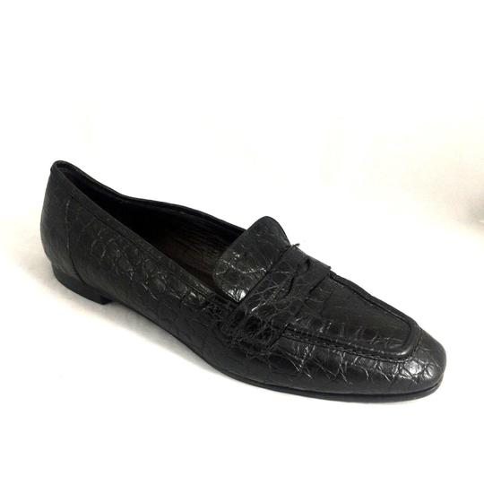 Preload https://item2.tradesy.com/images/black-flavio-zanasca-penny-loafer-croc-leather-40-slip-on-flats-size-us-9-regular-m-b-23338936-0-1.jpg?width=440&height=440