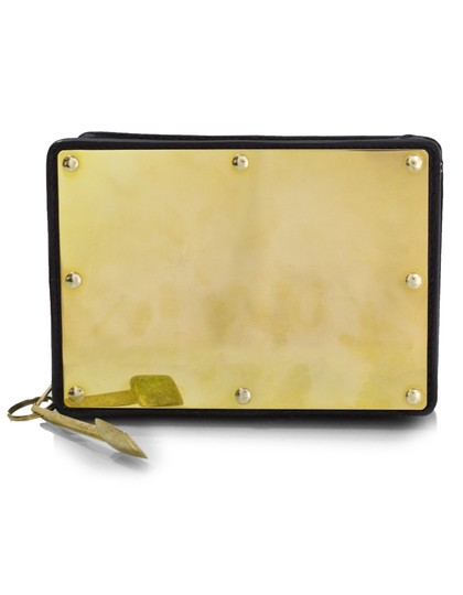 Sophie Hulme Leather gold Clutch