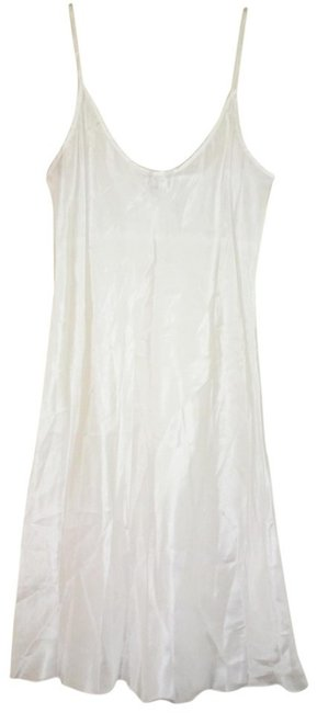 Johnny Was short dress White Optional Liner Pleated Yoke Split Neck Super Ephemeral Sheer + Breezy on Tradesy