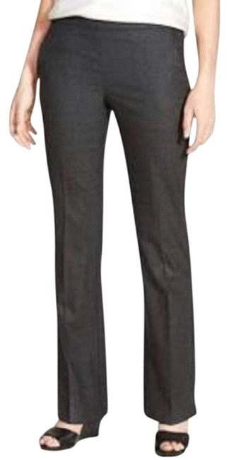 Item - Charcoal Gray New Trouser Heathered Stretch Twill Wool Pants Size 6 (S, 28)
