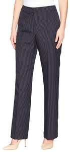 Le Suit Straight Pants Navy/Ivory