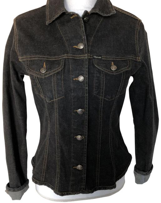 Preload https://item2.tradesy.com/images/faconnable-black-denim-jacket-size-2-xs-23338981-0-2.jpg?width=400&height=650
