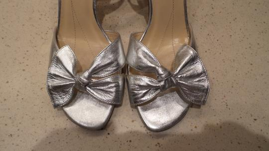 Kate Spade Bow Silver Sandals