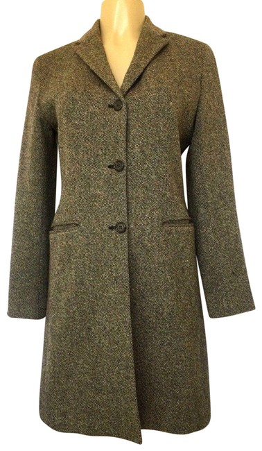 Preload https://img-static.tradesy.com/item/23339040/lauren-ralph-lauren-brown-blazer-jacket-gray-lambswool-wool-tweed-pea-coat-size-6-s-0-1-650-650.jpg