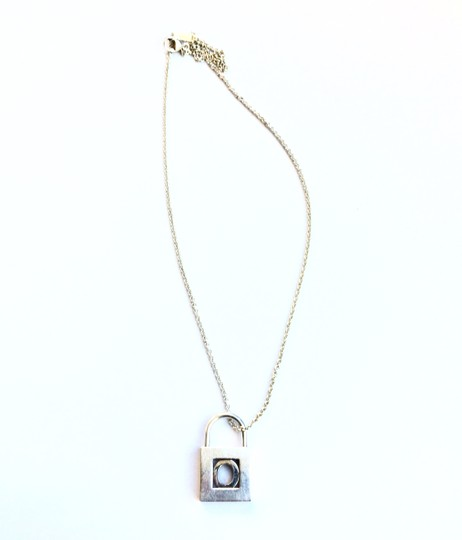Tiffany & Co. Alphabet Lock pendent Necklace O