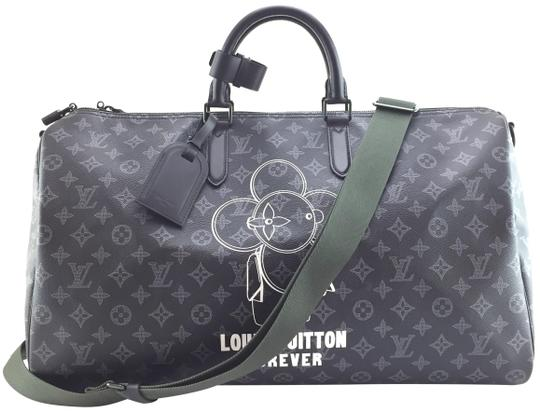 Preload https://item4.tradesy.com/images/louis-vuitton-duffle-keepall-vivienne-18561-extremely-rare-limited-2018-50-bandouliere-monogram-blac-23339103-0-2.jpg?width=440&height=440