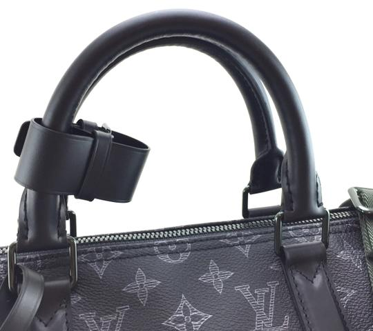 Louis Vuitton Runway 2018 Celebrity Duffel Monogram Black with Vivienne Front and back logo with black and green hardware Travel Bag