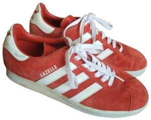 adidas Gazelle Gazelles Suede Red and White Athletic