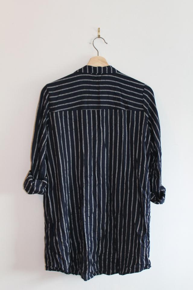 1360ab7647 Divided by H&M Vertical Stripes Comfortable Button Down Shirt Navy and  White Image 2. 123