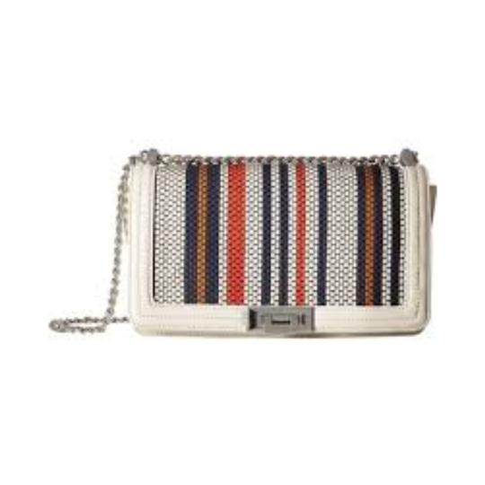 Sam Edelman Woven Chain Strap Leather Crossbody Shoulder Bag