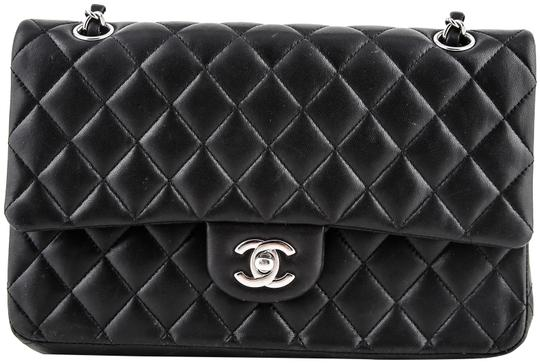 Preload https://item3.tradesy.com/images/chanel-classic-double-flap-black-leather-shoulder-bag-23339142-0-2.jpg?width=440&height=440