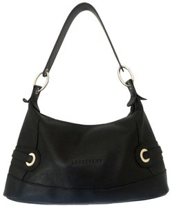 Longchamp Leather Pebbled Satchel Shoulder Bag