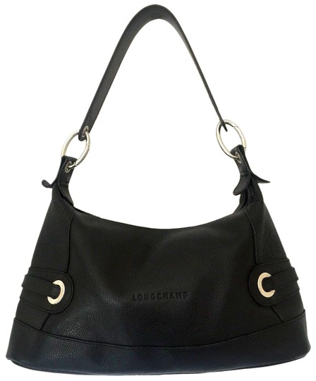 Preload https://item1.tradesy.com/images/longchamp-handbag-zip-top-medium-pebble-black-leather-shoulder-bag-23339145-0-1.jpg?width=440&height=440