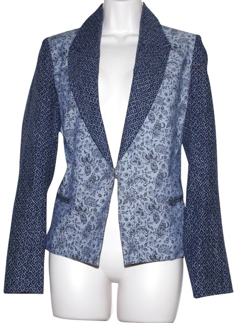Preload https://item2.tradesy.com/images/laveer-blue-gray-cotton-navy-print-floral-women-s-jacket-blazer-size-4-s-23339146-0-2.jpg?width=400&height=650