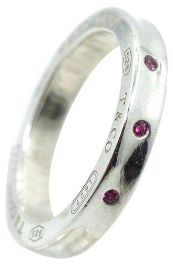 Preload https://item3.tradesy.com/images/tiffany-and-co-silver-1837-pink-sapphire-stacking-ring-23339157-0-2.jpg?width=440&height=440