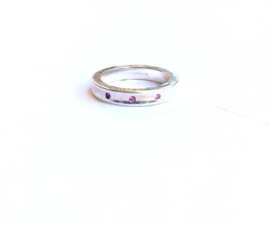 Tiffany & Co. 1837 Pink Sapphire Stacking Ring