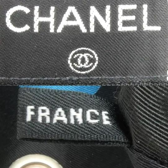 Chanel Double Chain Flap Cotton Shoulder Bag