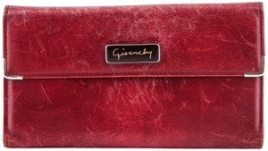 Givenchy Givenchy Checkbook Organizer Wallet Red
