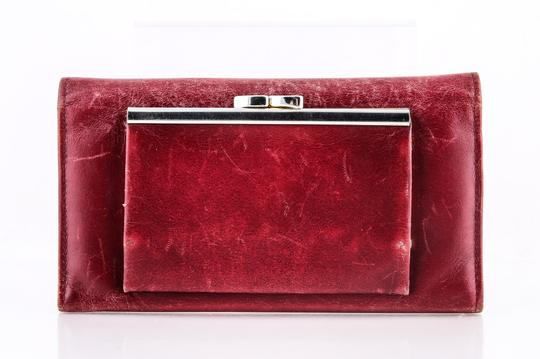 Givenchy Givenchy Checkbook Organizer Wallet Red Image 3