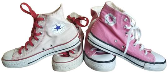 Converse Chucktaylors Allstars Womens Pink, White/Red Athletic