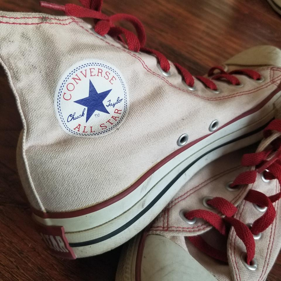 b2ae50985df Converse Pink White Red Chuck Taylor All Stars Sneakers Size US 7 Regular  (M