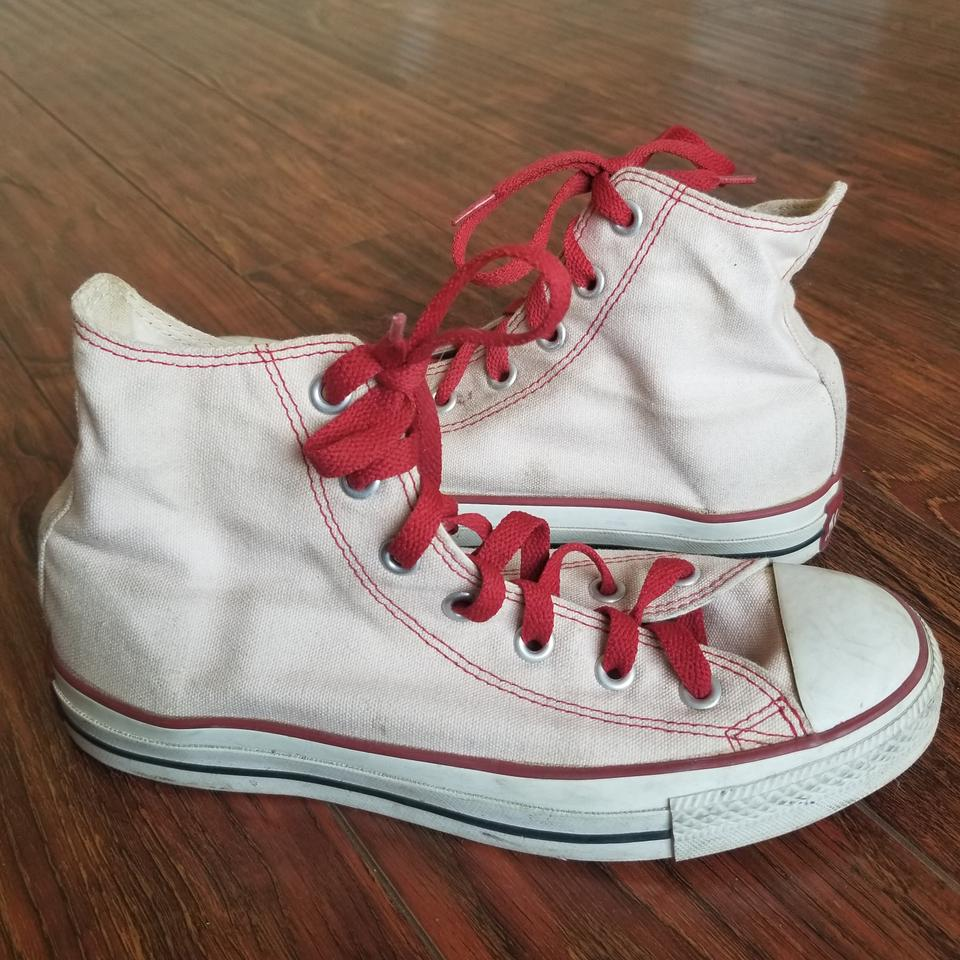 9f25bf91f05 Converse Pink White Red Chuck Taylor All Stars Sneakers Size US 7 ...