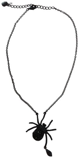 Betsey Johnson Betsey Johnson New Black Spider Necklace