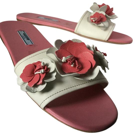 Preload https://item1.tradesy.com/images/prada-pink-floral-embroidered-leather-slides-sandals-size-eu-38-approx-us-8-regular-m-b-23339205-0-1.jpg?width=440&height=440