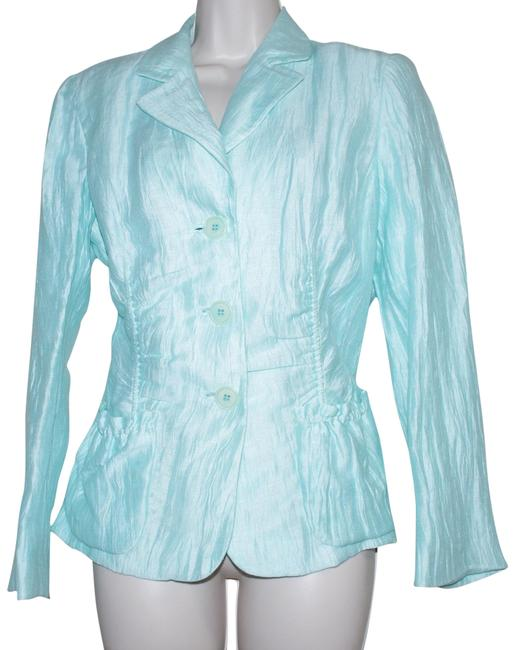 Preload https://img-static.tradesy.com/item/23339230/lafayette-148-new-york-mint-green-linen-blend-crinkle-jacket-jacket-blazer-size-10-m-0-2-650-650.jpg