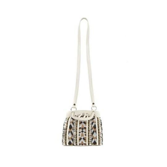 Sam Edelman Woven Chain Strap Leather Crossbody Shoulder Bag Image 3