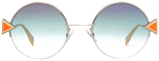 Preload https://img-static.tradesy.com/item/23339239/fendi-silver-orange-green-rainbow-round-sunglasses-0-1-540-540.jpg