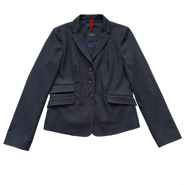 Preload https://item1.tradesy.com/images/piazza-sempione-navy-textured-cropped-blazer-size-6-s-23339250-0-3.jpg?width=400&height=650