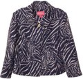 Lilly Pulitzer New Linen Medium Light Jacket Purple, white Blazer Image 0