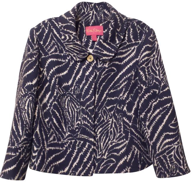 Preload https://img-static.tradesy.com/item/23339254/lilly-pulitzer-purple-white-new-lightweight-34-sleeve-lined-jacket-m-blazer-size-10-m-0-1-650-650.jpg