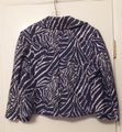 Lilly Pulitzer New Linen Medium Light Jacket Purple, white Blazer Image 9