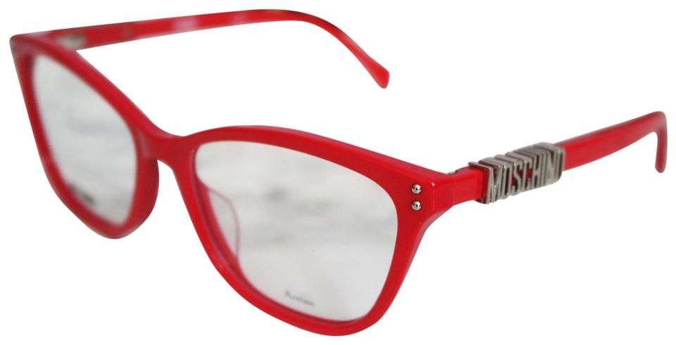 Moschino Red New Mos500 Silver Cat Eye Frames Sunglasses - Tradesy