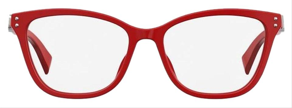 d262f92ec61a Moschino NEW Moschino MOS500 Red Silver Cat Eye Eyeglasses Frames Image 0  ...