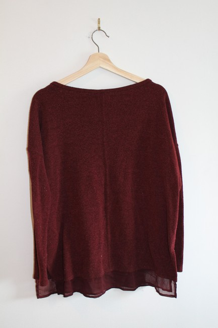 Silence + Noise Sheer Hem Oversized Urban Outfitters Sweater