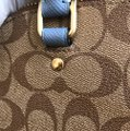 Coach Handbag Wallet Set Alma Sierra Monogram Satchel in khaki/Midnight pool Image 10