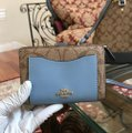 Coach Handbag Wallet Set Alma Sierra Monogram Satchel in khaki/Midnight pool Image 2