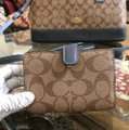 Coach Handbag Wallet Set Alma Sierra Monogram Satchel in khaki/Midnight pool Image 4