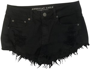 American Eagle Outfitters Cut Off Shorts black
