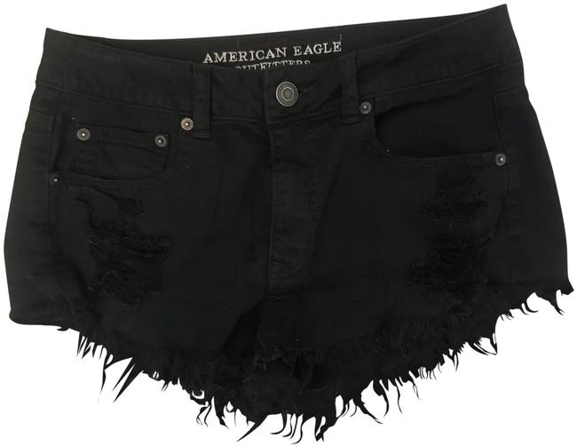 Preload https://item4.tradesy.com/images/american-eagle-outfitters-black-high-waisted-cut-off-shorts-size-6-s-28-23339288-0-1.jpg?width=400&height=650