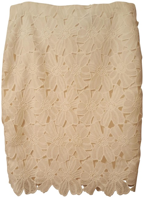 Preload https://item3.tradesy.com/images/ann-taylor-cream-flowered-lace-skirt-size-10-m-31-23339297-0-1.jpg?width=400&height=650