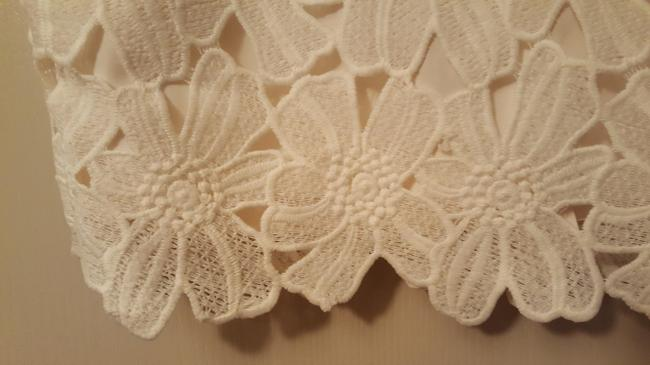 Ann Taylor Flowers Lace Skirt Cream Image 2